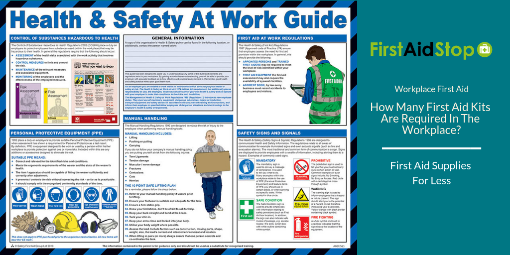 How many first aid kits are required in the workplace