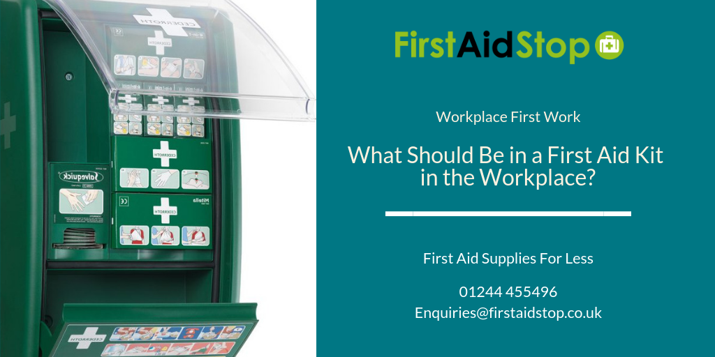 what should be in a first aid kit in the workplace